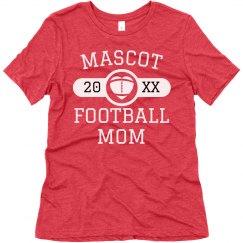 Custom Mascot Name Football Mom