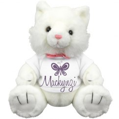 Kitty w/ name and butterfly