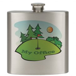 Golf - My Office 6oz Stainless Steel Flask