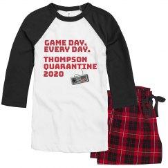 Game Day Custom Family Quarantine Pajamas