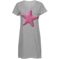 Pink & Silver Dots Starfish