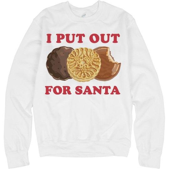 I Put Out Cookies Santa Unisex Basic Promo Crewneck Sweatshirt