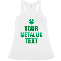 Green Custom Metallic Text