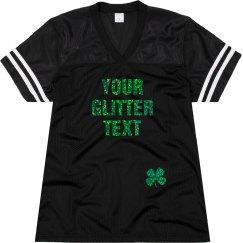 St. Patrick's Custom Glitter Text