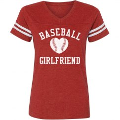 Baseball Girlfriend Tee Heart