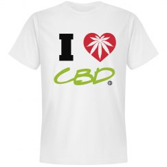 Johnny Dappa Trading Co. Premium I Love CBD T-Shirt