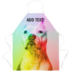 Custom Text Abstract Rainbow Dog