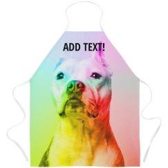 Custom Text Abstract Rainbow Dog