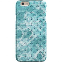 Ocean Anchor Print iPhone Case