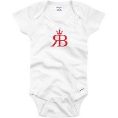 Red Bottoms Baby Onesie- Red Logo