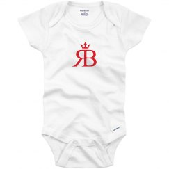 Red Bottoms Baby Onesie- Red Logo