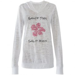 Sandy Toes, Salty Hair Burnout Hoodie