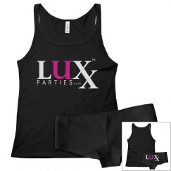 Luxx Tank and Booty Short Set-Black