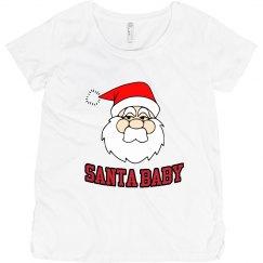 Santa Baby Maternity Tee