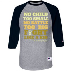 Fight Like a kid baseball tee