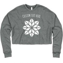 Yoga Mandala Custom Yogi Crop Crew