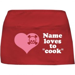 Name Loves To Cook Apron