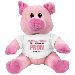 Cute Promposal Plush Pig For Her