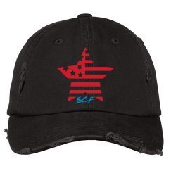 SCF distressed baseball cap