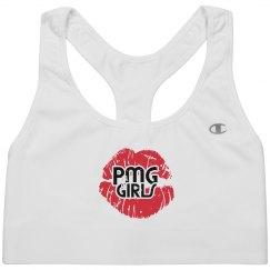 "PMG GIRLS ""DISTRESSED"" SPORTS BRA"