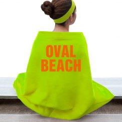 Vibrant Oval Beach