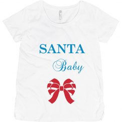 Santa Baby Maternity Top