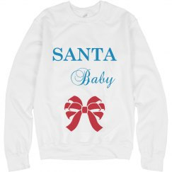 Santa Baby Maternity Sweatshirt