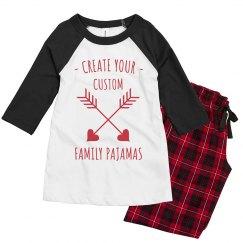 Create Your Custom Valentine's Day Family PJs