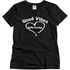 Good Vibes Black Tee