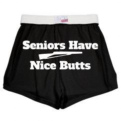 Color Guard Seniors Nice Butts Funny Wordplay Shorts
