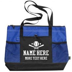 Create a Custom Softball Tote Bag