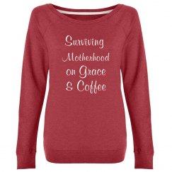 Surviving Motherhood on Grace & Coffee