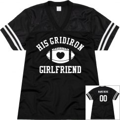 His Gridiron Football Girlfriend With Custom Back