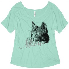 Cat Head Meow Black Grey