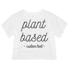 Plant Based Vegetarian Vegan Crop Tee