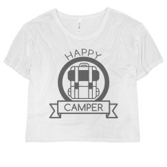 Happy Camper Badge Crop