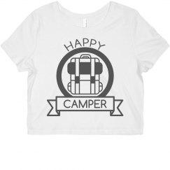 Happy Camper Badge Crop