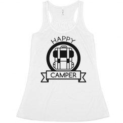 Happy Camper Badge Flowy