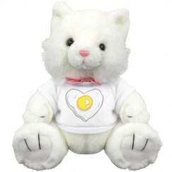 CAT PLUSH WITH EGG SHIRT