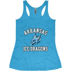 #1-Ladies Slim Fit Racerback Tank-Next Level Brand-Blue