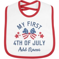 My First 4th of July Custom Name