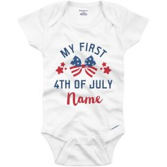 My 1st Fourth of July Add Name Baby