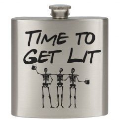 Time to Get Lit Flask
