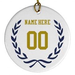 Custom Sports Number Ornament