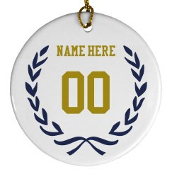 Custom Sports Number Ornament