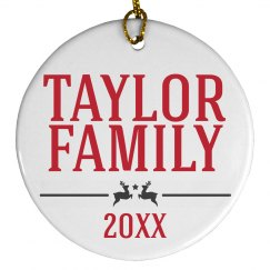 Custom Family Date Ornament