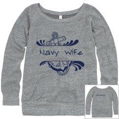 Navy Wife Sweatshirt