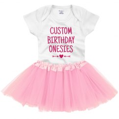 Custom Birthday Onsie With Tutu
