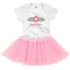Custom Baby Name With Flower