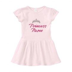 Princess Custom Baby Name Dress